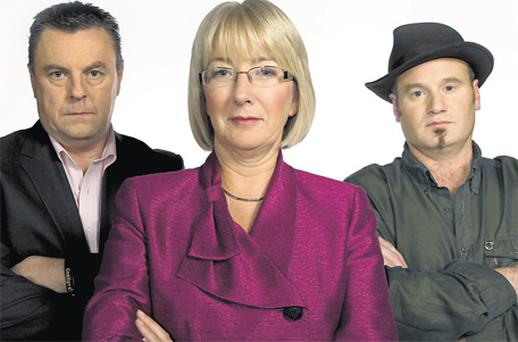 Lorcan Mac Gabhann, Mary Hanafin and Rossa O Snodaigh are the judges on 'An G-Team'