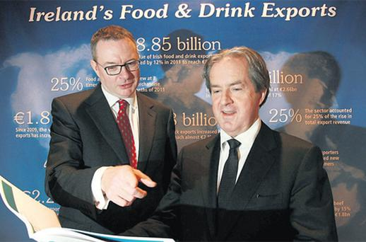 Bord Bia chairman Michael Carey, left, with the company's CEO Aidan Cotter