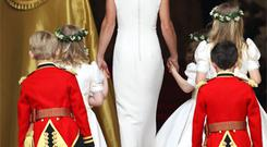 The Alexander McQueen gown as worn by royal bridesmaid Pippa Middleton. Photo: Getty Images