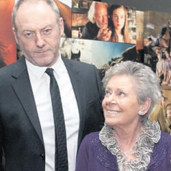 Liam Cunningham and his mother Kathleen at the Irish film premiere of 'War Horse' in the Savoy, Dublin