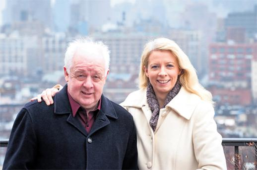 Jim Sheridan and his daughter Naomi in New York where they are putting the finishing touches to their film project 'David & the Fairy King'
