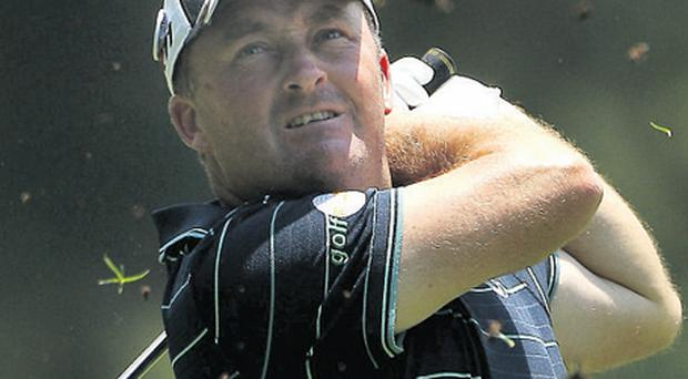 Damien McGrane's firstround eight-under par equalled his best score on the European tour
