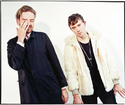 Future days: The Big Pink's Milo Cordell and Robbie Furze