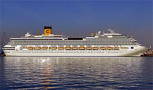 The luxury cruise ship Costa Concordia