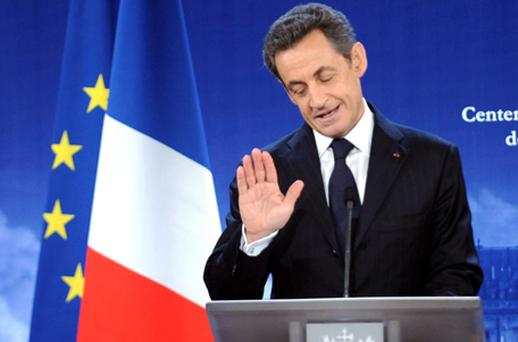French President Nicolas Sarkozy was speaking for the first time since his country lost it's AAA credit rating. Photo: Getty Images