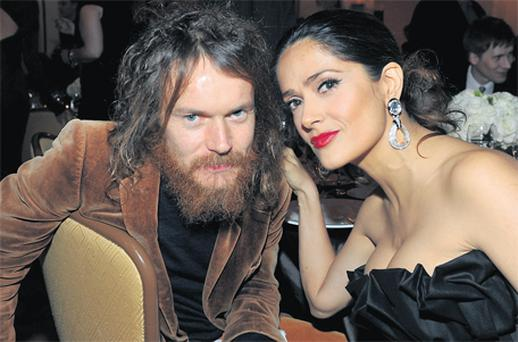 Irish singer Damien Rice and Salma Hayek at the Cinema for Peace event in aid of the J/P Haitian Relief Organisation in LA at the weekend