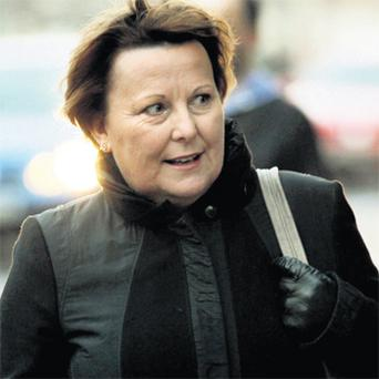 Teresa McGuinness outside the High Court in Dublin yesterday
