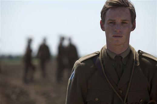 Eddie Redmayne stars as Stephen Wraysford in the BBC adaptation of 'Birdsong'