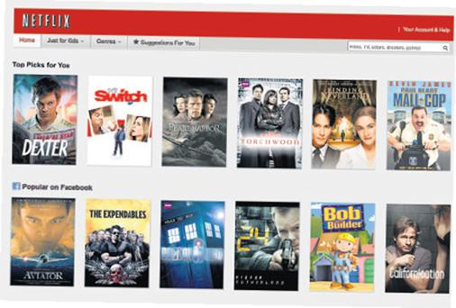 Stream on: Some of the shows available on Netflix, which is offering a free month's trial