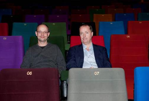 Ed Guiney and Andrew Lowe at the re-launch of the Light House Cinema