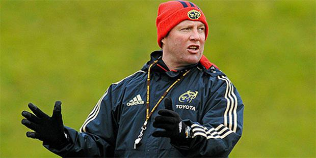 Munster head coach Tony McGahan during squad training ahead of their Heineken Cup game against Northampton Saints