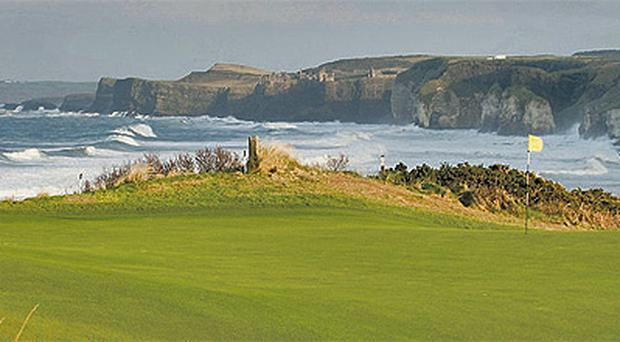 A view of the green on the 5th hole at Royal Portrush which continues to receive plaudits