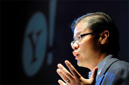 Yang, who started Yahoo in 1995, is leaving the company's board of directors as well as all other positions within the company. Photo: Reuters