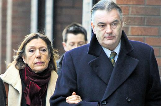 Ian Bailey with his partner Jules Thomas outside the Supreme Court this week. Photo: Courtpix