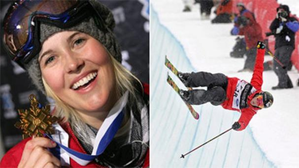 Sarah Burke died nine days after falling during a half-pipe run in Park City, Utah