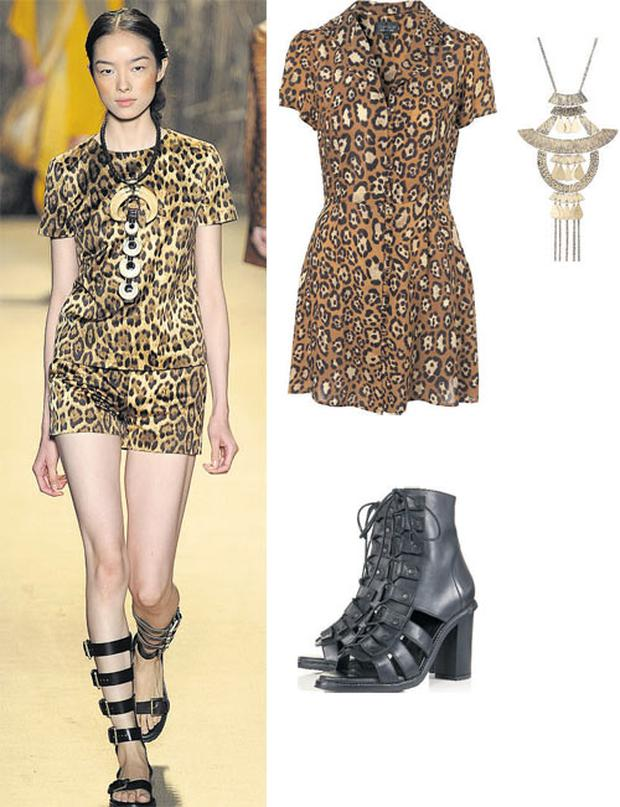 Dress, €68, necklace, €21 and boots, €137 all at Topshop.com