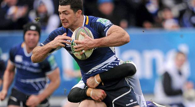 Rob Kearney on the way to scoring Leinster's second try