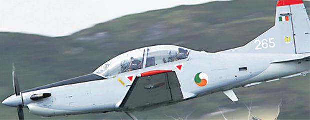 David Furniss and Cadet David Jevens flying at the Connemara air show in 2009
