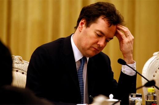 British Chancellor George Osborne insists he will stick by the austerity measures which have been blamed for choking UK growth. Photo: Reuters