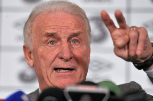 Ireland manager Giovanni Trapattoni. Photo: Sportsfile