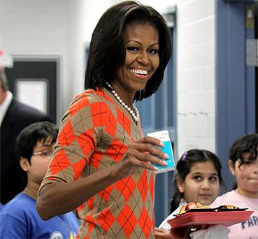 Michelle Obama - magazine complimented her 'jazzy' style