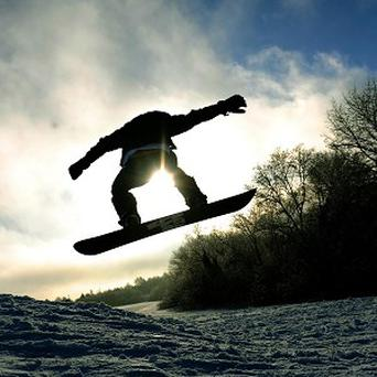 Swiss police think thieves used a snowboard to help steal a safe from a ski resort youth hostel