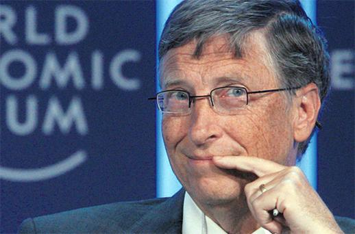 Also attending Davos is Microsoft founder Bill Gates. Photo: Reuters