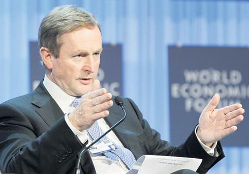 Enda Kenny at the World Economic Forum in Davos, Switzerland, on Thursday