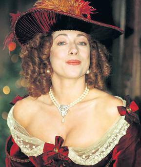 Double standards: actress Alex Kingston as Moll Flanders in a TV adaptation of the 18th-Century novel The Fortunes and Misfortunes of the Famous Moll Flanders