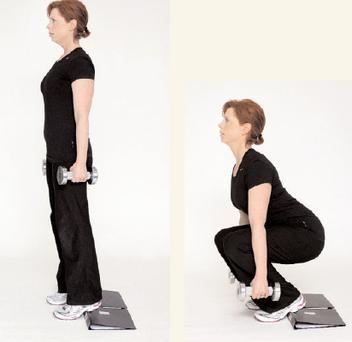 A1 dumbell squat with weights