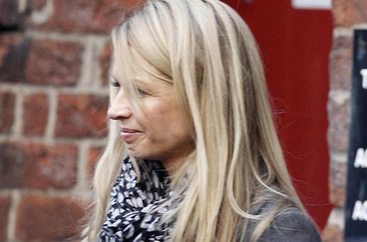 Louise Speed leaving Warrington Coroner's Court after the inquest yesterday. Photo: PA