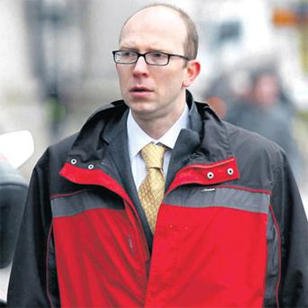 Scott Alexander Burns leaving court yesterday after the hearing. Photo: Courtpix