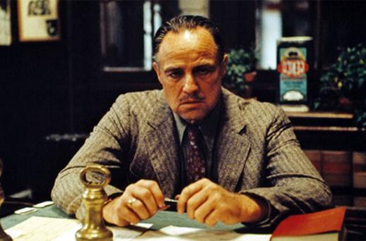 Marlon Brando in the 'The Godfather'