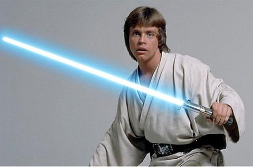 Mark Hamill playing the part of Luke Skywalker in Star Wars