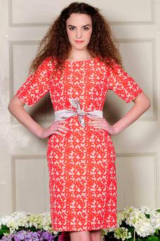 Fee G Bracelet Sleeve Dress Red, €229.95 by Kilkenny