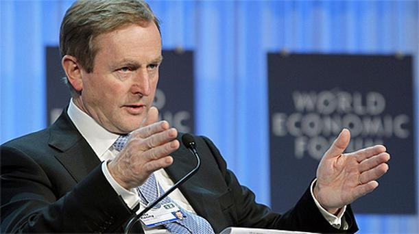 Taoiseach Enda Kenny at the World Economic Forum in Davos