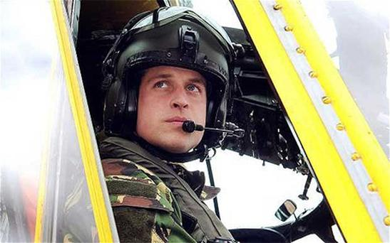 The Duke of Cambridge is to fly to the Falkland Islands for a six week tour of duty Photo: PA