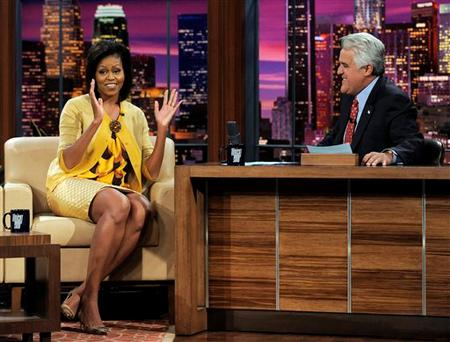 Michelle Obama with Jay Leno on the 'Tonight Show'