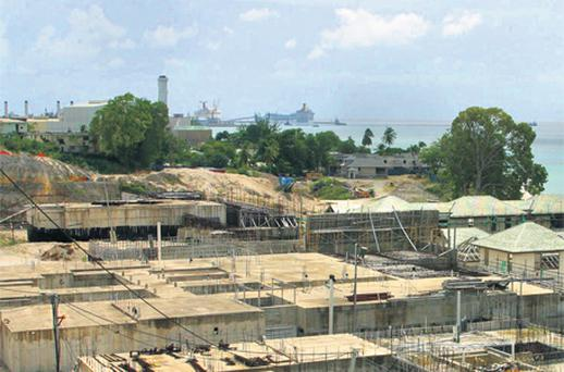 The now-stalled resort in Barbados