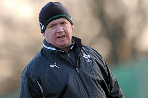 Ireland coach Declan Kidney during training on Wednesday. Photo: Sportsfile