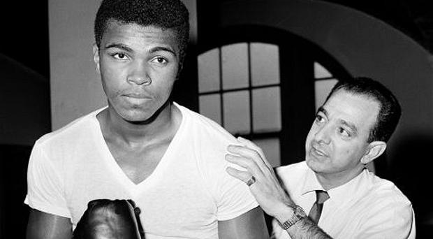 Legendary: Angelo Dundee, who guided the career of Muhammad Ali, is said to have died of a heart attack.