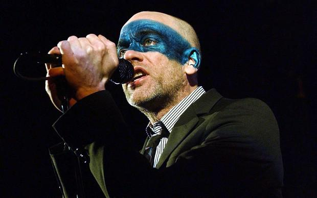 Michael Stipe of REM at the Carling Apollo Hammersmith in London Photo: PA