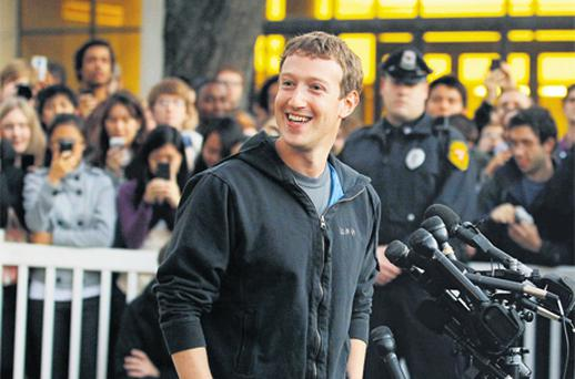 Facebook founder and CEO Mark Zuckerburg