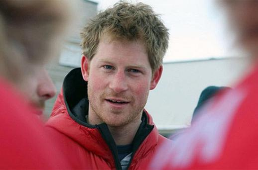 Prince Harry alongside the Walking with the Wounded team on last year's trek to the North Pole. Photo: PA