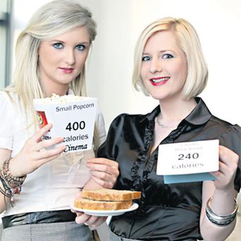 Leona Courtney and Frances Douglas at yesterday's announcement by the FSAI that there is to be a national consultation on putting calorie information on menus