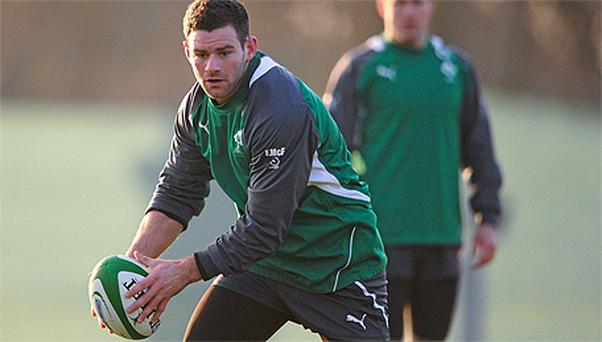 Fergus McFadden in action during squad training