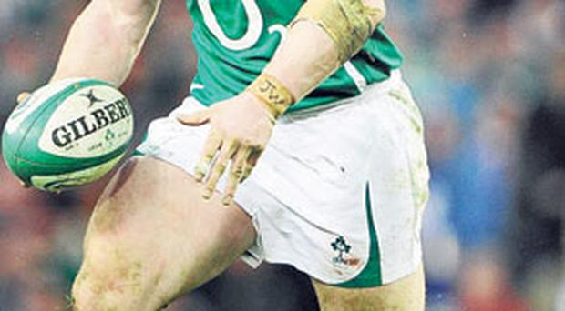 Rugby star and DJ Cian Healy in action for Ireland