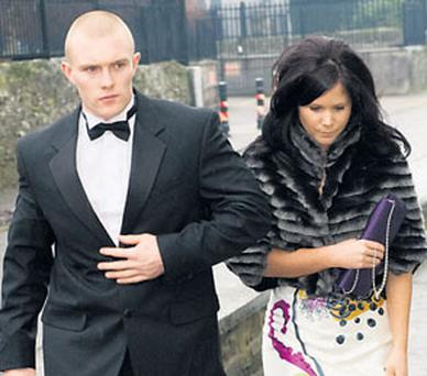 Keith Earls and his partner Edel McGee