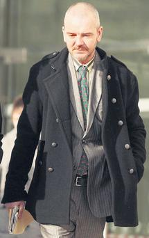 Thomas Byrne at Dublin District Court yesterday