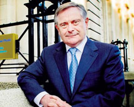 ASSURED: Minister for Public Expenditure and Reform Brendan Howlin outside his office last week. Photo: David Conachy